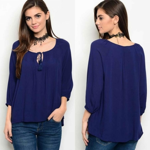 Available Tops - 🧞FINAL PRICE🧞 NWT~ Peasant Boho Blouse